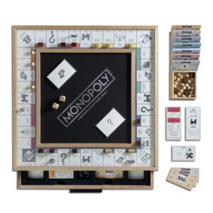 Scrabble, Monopoly, and Clue Vintage Board Game Bookshelf Collection